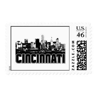 Cincinnati Skyline Postage