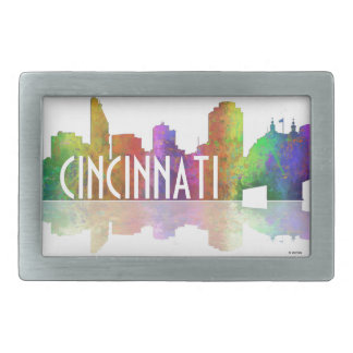 Cincinnati Skyline Rectangular Belt Buckle