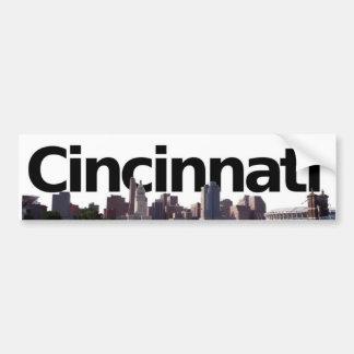 Cincinnati Skyline with Cincinnati in the sky Bumper Stickers