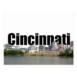 Cincinnati Skyline with Cincinnati in the Sky Postcards