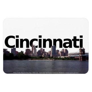 Cincinnati Skyline with Cincinnati in the Sky Rectangular Photo Magnet