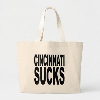 Cincinnati Sucks Large Tote Bag