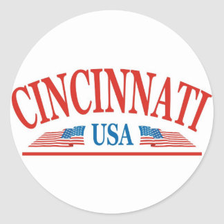 Cincinnati USA Classic Round Sticker
