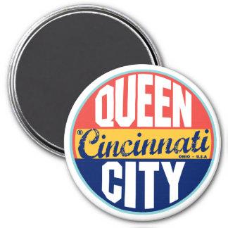 Cincinnati Vintage Label 3 Inch Round Magnet