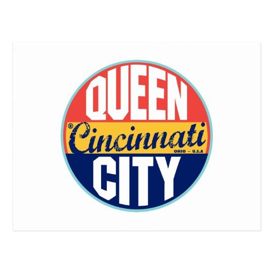 Cincinnati Vintage Label Postcard