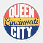 Cincinnati Vintage Label Round Stickers