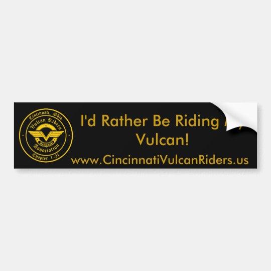 Cincinnati Vulcan Riders Bumper Sticker