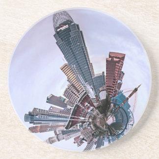 Cincinnati with a Spin! Drink Coaster