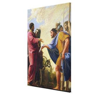 Cincinnatus que vuelve a su arado impresión en lienzo estirada
