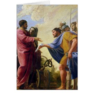 Cincinnatus Returning to his Plough Greeting Card