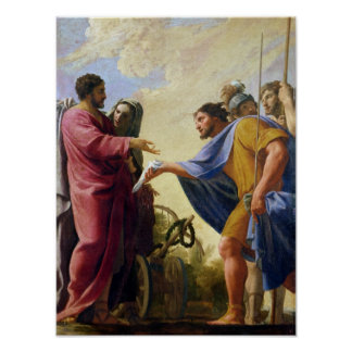 Cincinnatus Returning to his Plough Poster