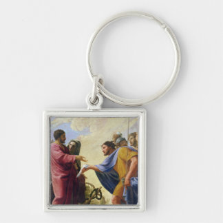 Cincinnatus Returning to his Plough Silver-Colored Square Keychain