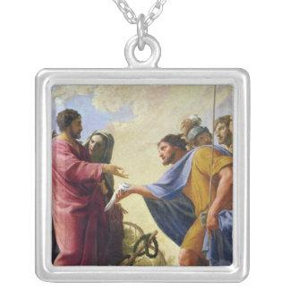Cincinnatus Returning to his Plough Square Pendant Necklace