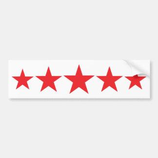 cinco 5 estrellas rojas de lujo pegatina para auto