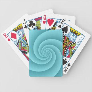 Cinco brazos tuercen en espiral textura cepillada  baraja de cartas