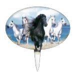 Cinco caballos galopantes figura para tarta