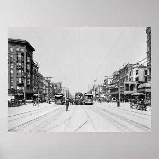Cinco carriles: 1907 póster