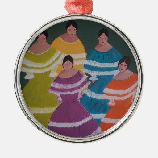 Cinco Chicas (2).JPG Ornamento Para Arbol De Navidad