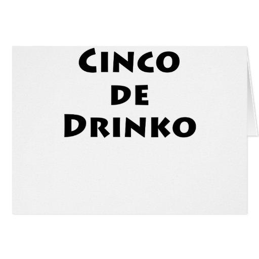 Cinco de drinko cards
