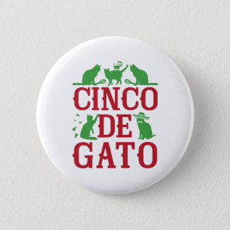 Cinco De Gato Pinback Button