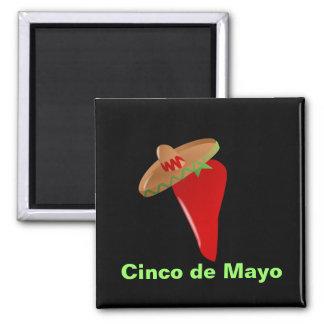 Cinco de Mayo 2 Inch Square Magnet