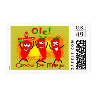 Cinco de Mayo 3 Dancing Chilli Peppers-Adorable Stamps