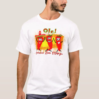 Cinco de Mayo 3 Dancing Chilli Peppers-Adorable T-Shirt