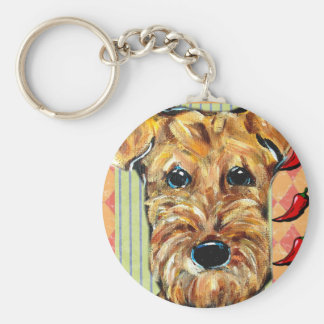 CINCO de MAYO AIREDALE Basic Round Button Keychain