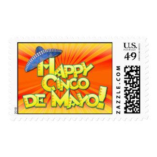¡Cinco de Mayo - Ay ChWowWow! - Chihuahua Estampillas