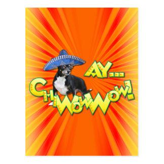 Cinco de Mayo - Ay ChWowWow! - Chihuahua Postcard