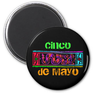 Cinco de Mayo Aztec Snake 2 Inch Round Magnet