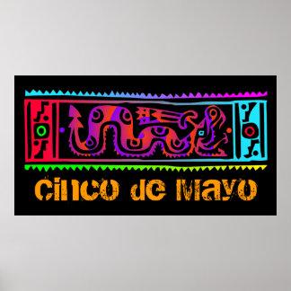 Cinco de Mayo Aztec Snake Posters