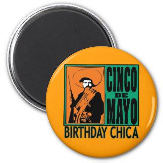 Cinco de Mayo Birthday Chica 2 Inch Round Magnet