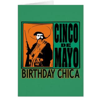Cinco de Mayo Birthday Chica Greeting Card