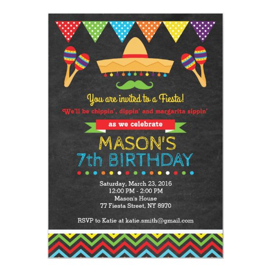 cinco de mayo birthday invitation zazzle com