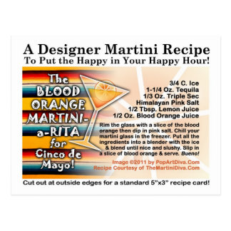 Cinco de Mayo Blood Orange Martini Margarita Card