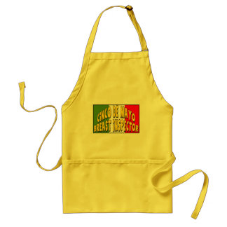 Cinco de Mayo Breast Inspector T-shirts and Gifts Adult Apron