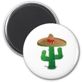 Cinco de Mayo cactus 2 Inch Round Magnet