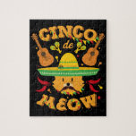 Cinco de Mayo Cat Cinco de Meow Kitten Jigsaw Puzzle