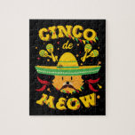 Cinco de Mayo Cat Cinco de Meow Kitten Sombrero Jigsaw Puzzle