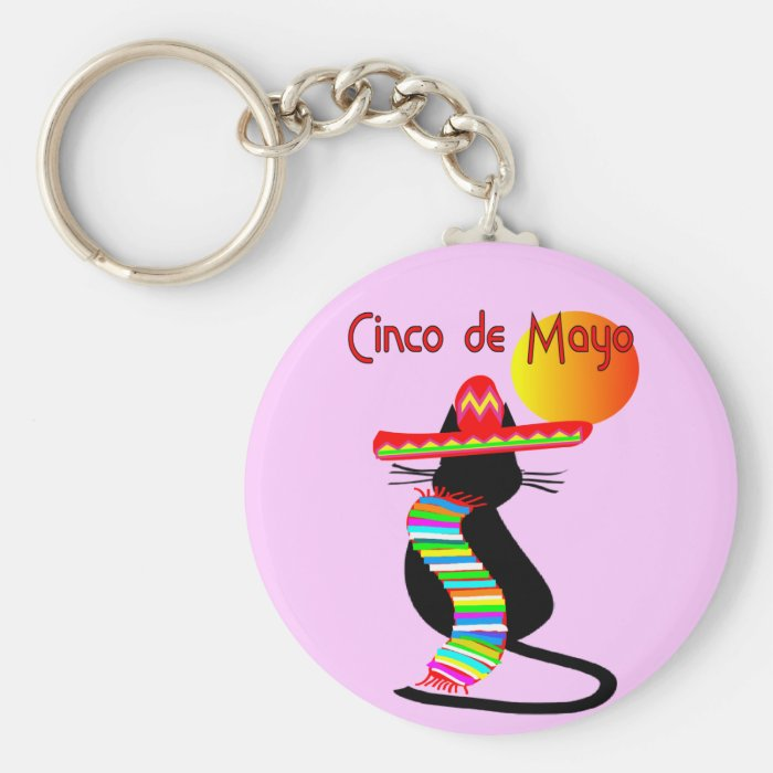 Cinco de mayo CAT Design--Adorable Keychain
