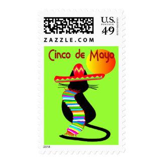 Cinco de mayo CAT Design--Adorable Postage Stamp