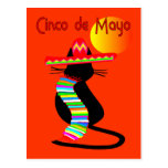 Cinco de mayo CAT Design--Adorable Postcard
