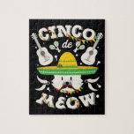 Cinco de Mayo Cat Toddler Cinco de Meow Kitten Jigsaw Puzzle