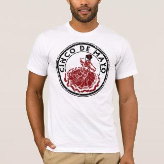 Cinco de Mayo Celebration Grunge Logo #1B T-Shirt