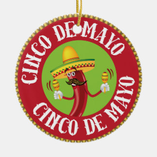 Cinco de Mayo Ceramic Ornament