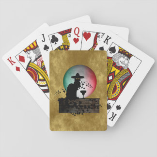Cinco de Mayo Chat Noir / Gato Negro Playing Cards
