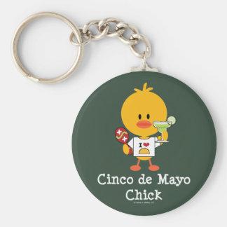 Cinco de Mayo Chick Keychain