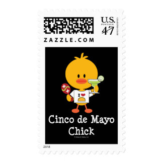 Cinco de Mayo Chick Postage Stamps