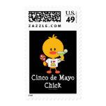 Cinco de Mayo Chick Postage Stamps